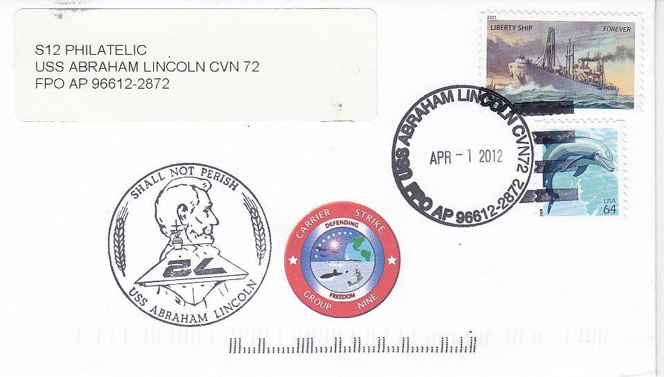 Beleg USS ABRAHAM LINCOLN CVN-72