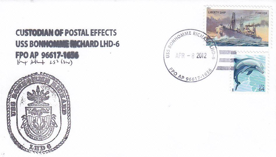 Beleg USS BONHOMME RICHARD LHD-6 080412