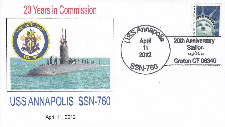 Beleg USS ANNAPOLIS SSN-760 20 Jahre im Dienst
