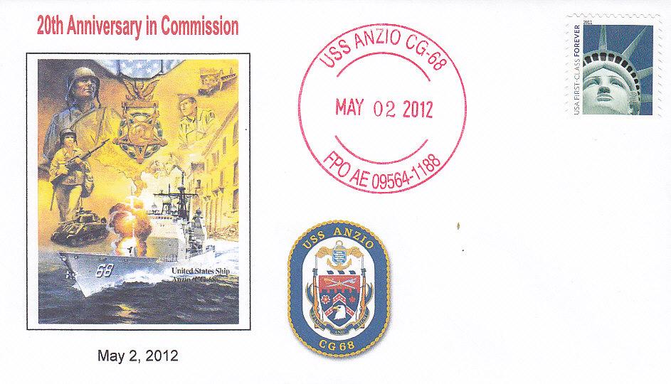 Beleg USS ANZIO CG-68 20 Jahre im Dienst