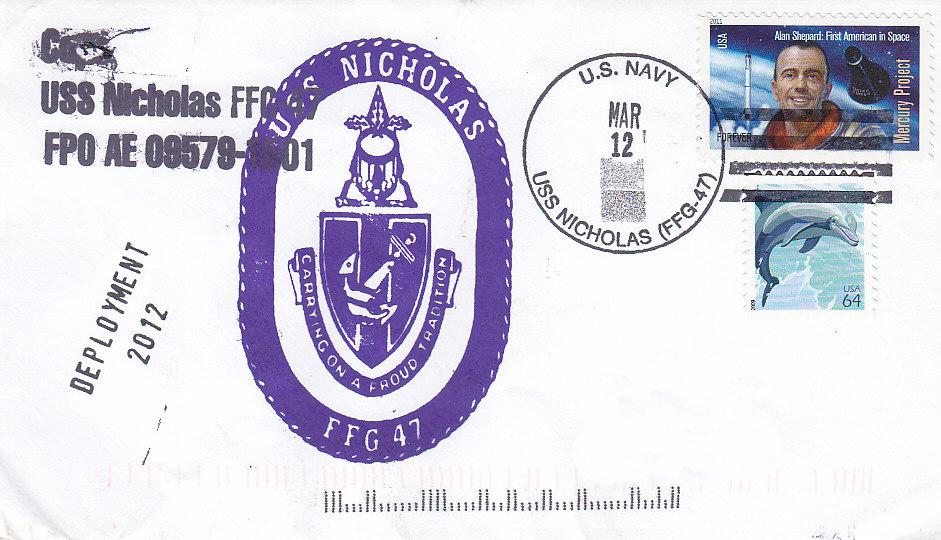 Beleg USS NICHOLAS FFG-47