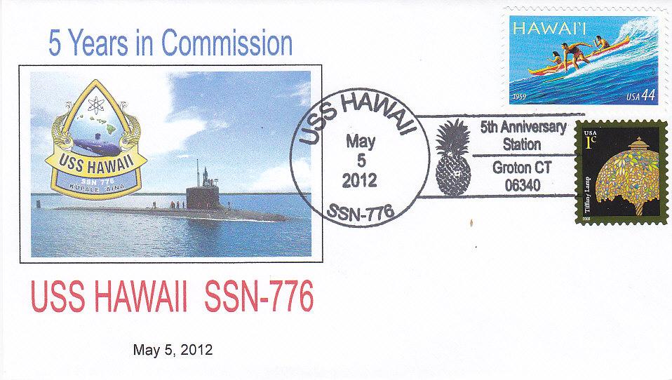 Beleg USS HAWAII SSN-776 5 Jahre im Dienst