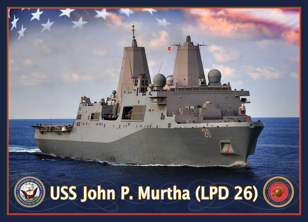USS JOHN P. MURTHA LPD-26 Grafik: U.S. Navy