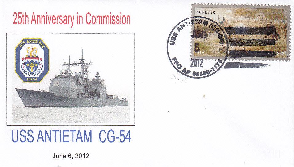 Beleg USS ANTIETAM CG-54 25 Jahre im Dienst