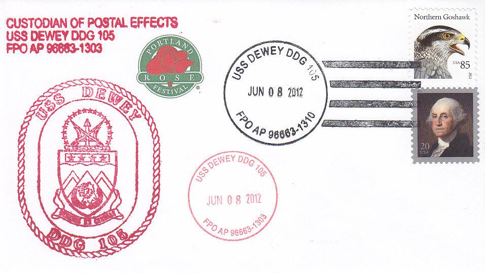 Beleg USS DEWEY DDG-105 Portland