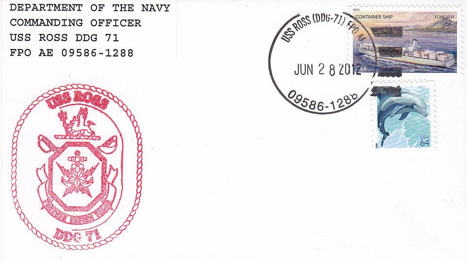 Beleg USS ROSS DDG-71 15 Jahre
