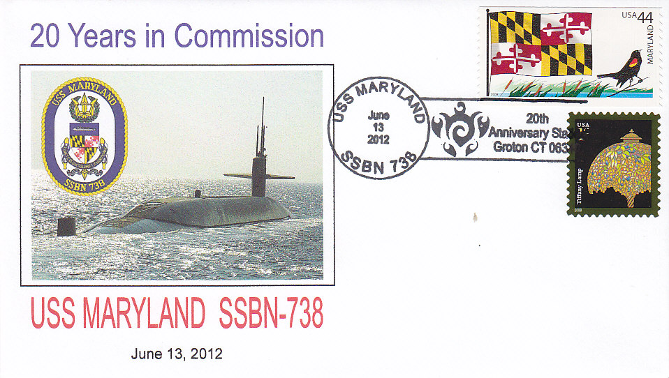USS MARYLAND SSBN-738 20th Anniversary Groton
