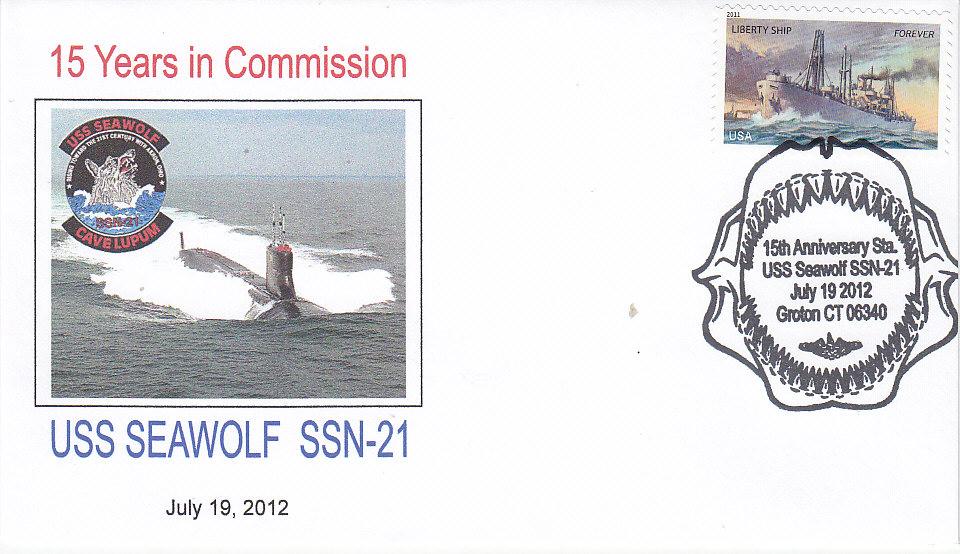 Beleg USS SEAWOLF SSN-21 15 Jahre im Dienst