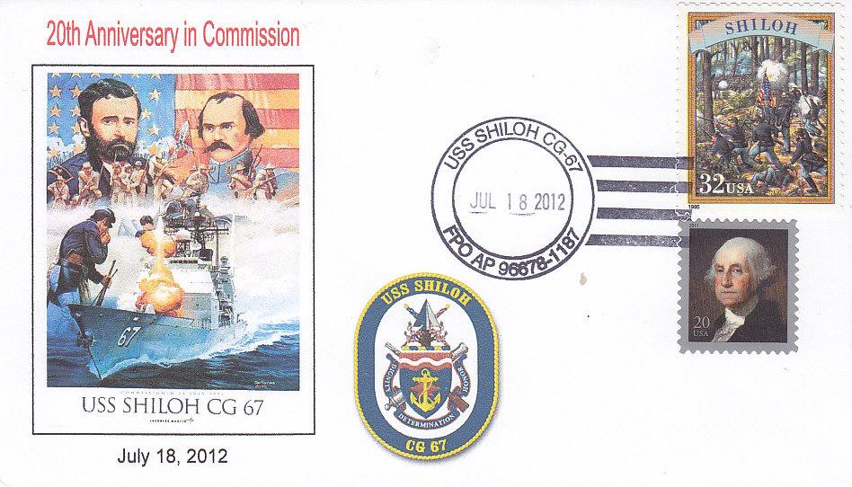 Beleg USS SHILOH CG-67 20 Jahre im Dienst