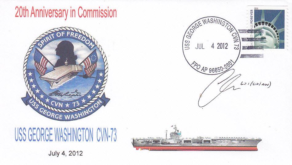 Beleg USS GEORGE WASHINGTON CVN-73 20 Jahre im Dienst 1