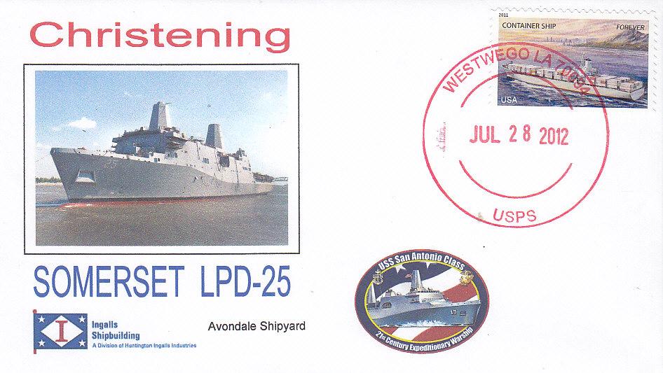 Beleg USS SOMERSET LPD-25 Christening