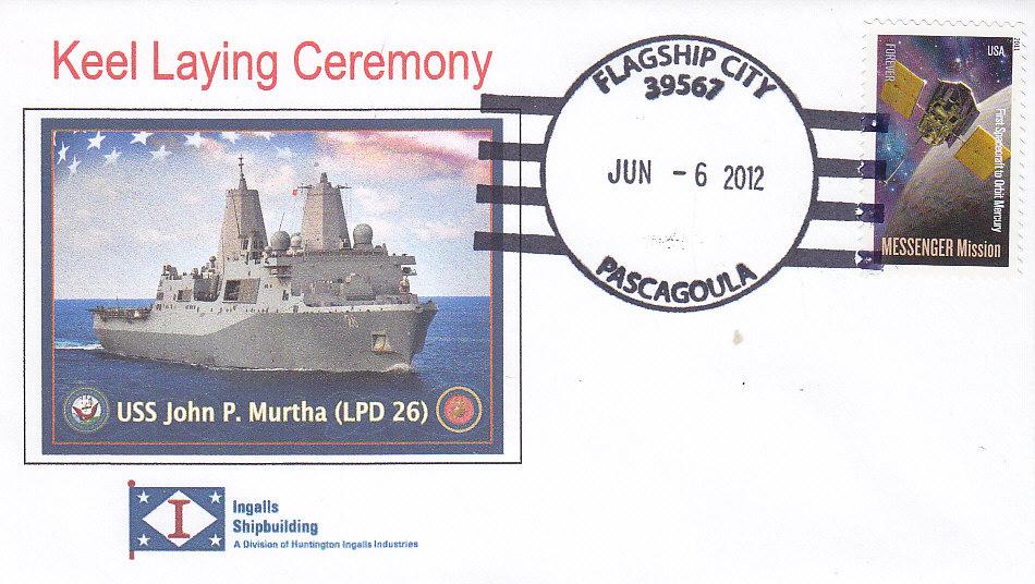 Beleg USS JOHN P. MURTHA LPD-26 Kiellegung