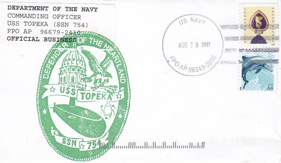 Beleg USS TOPEKA SSN-754 Yokosuka