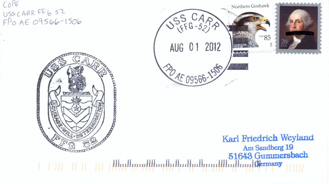 Beleg: Karl Friedrich Weyland