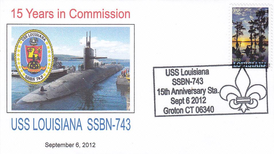 Beleg USS LOUISIANA SSBN-743 15 Jahre Groton