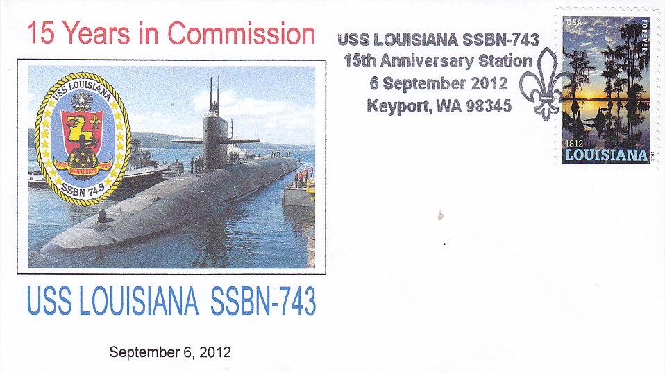 Beleg USS LOUISIANA SSBN-743 15 Jahre Keyport