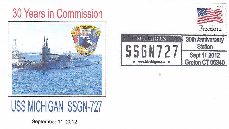 Beleg USS MICHIGAN SSGN-727 30 Jahre Groton