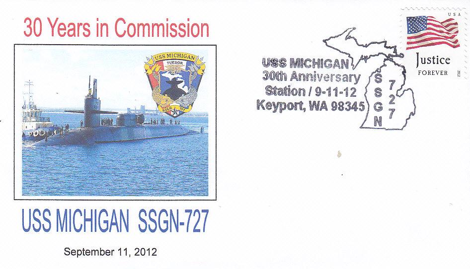 Beleg USS MICHIGAN SSGN-727 30 Jahre Keyport