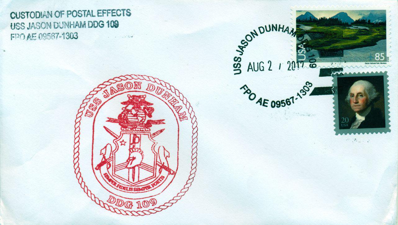 Beleg USS JASON DUNHAM DDG-109Beleg: Karl Friedrich Weyland