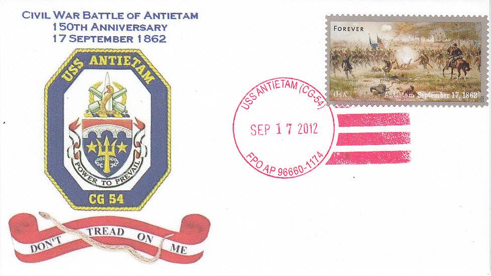 Beleg USS ANTIETAM CG-54 150 Jahre Schlacht von Antietamvon Mike Brock, USCS 11060