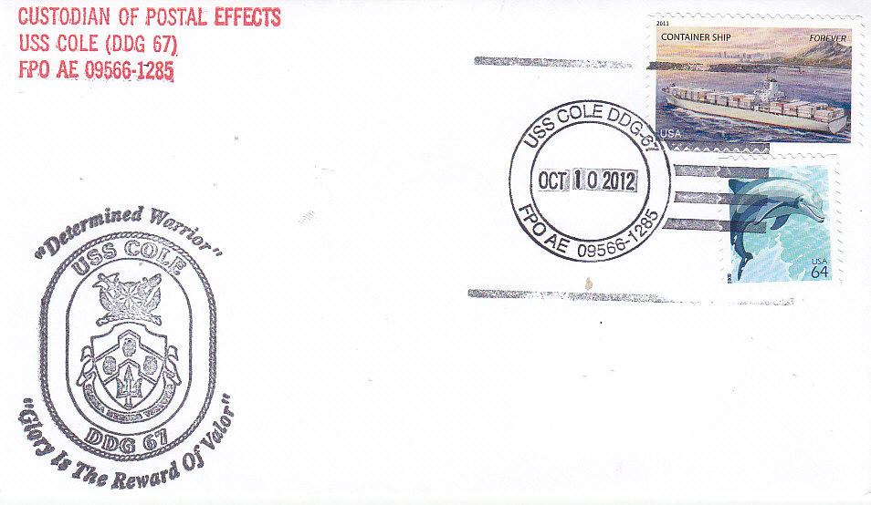 Beleg USS COLE DDG-67 regulär