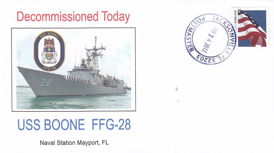 Beleg USS BOONE FFG-28 Außerdienststellung