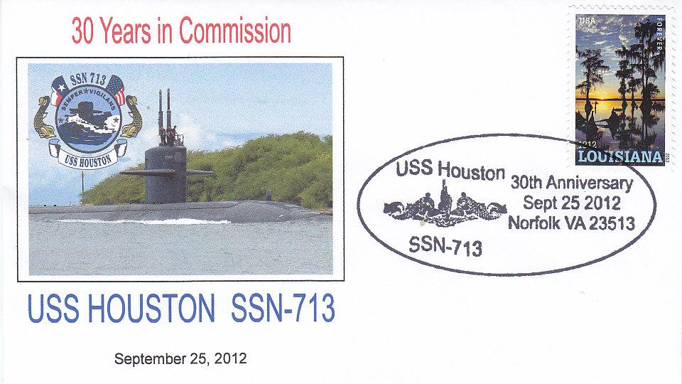 Beleg USS HOUSTON SSN-713 30 Jahre im Dienst