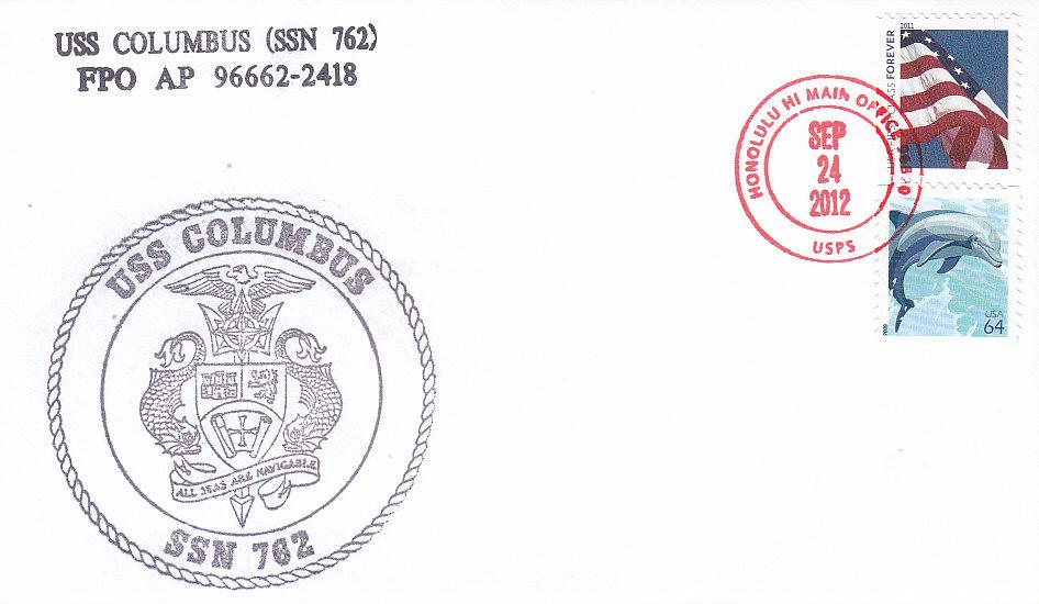 Beleg USS COLUMBUS SSN-762