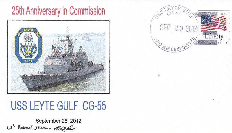 Beleg USS LEYTE GULF CG-55 25 Jahre im Dienst