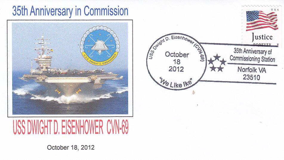 Beleg USS DWIGHT D. EISENHOWER CVN-69 35 Jahre Norfolk