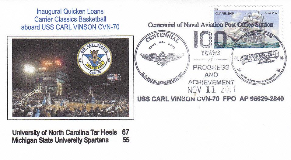 Beleg USS CARL VINSON CVN-70 Basketball