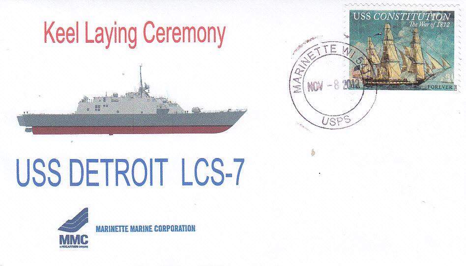 Beleg USS DETROIT LCS-7 Keel Laying