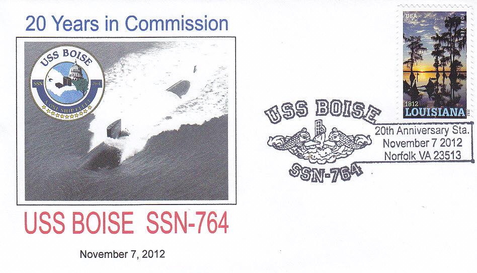 Beleg USS BOISE SSN-764 20 Jahre im Dienst