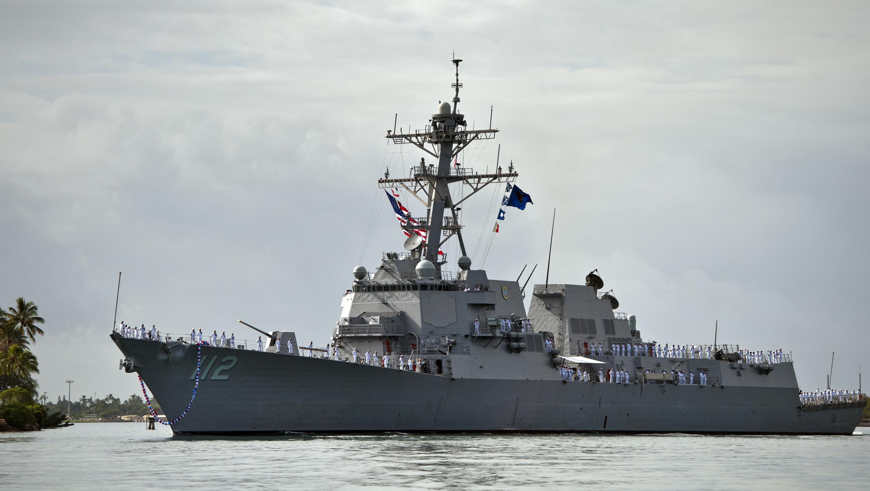 USS MICHAEL MURPHY DDG-112 Einlaufen Pearl Harbor am 21.11.2012Bild: U.S. Navy