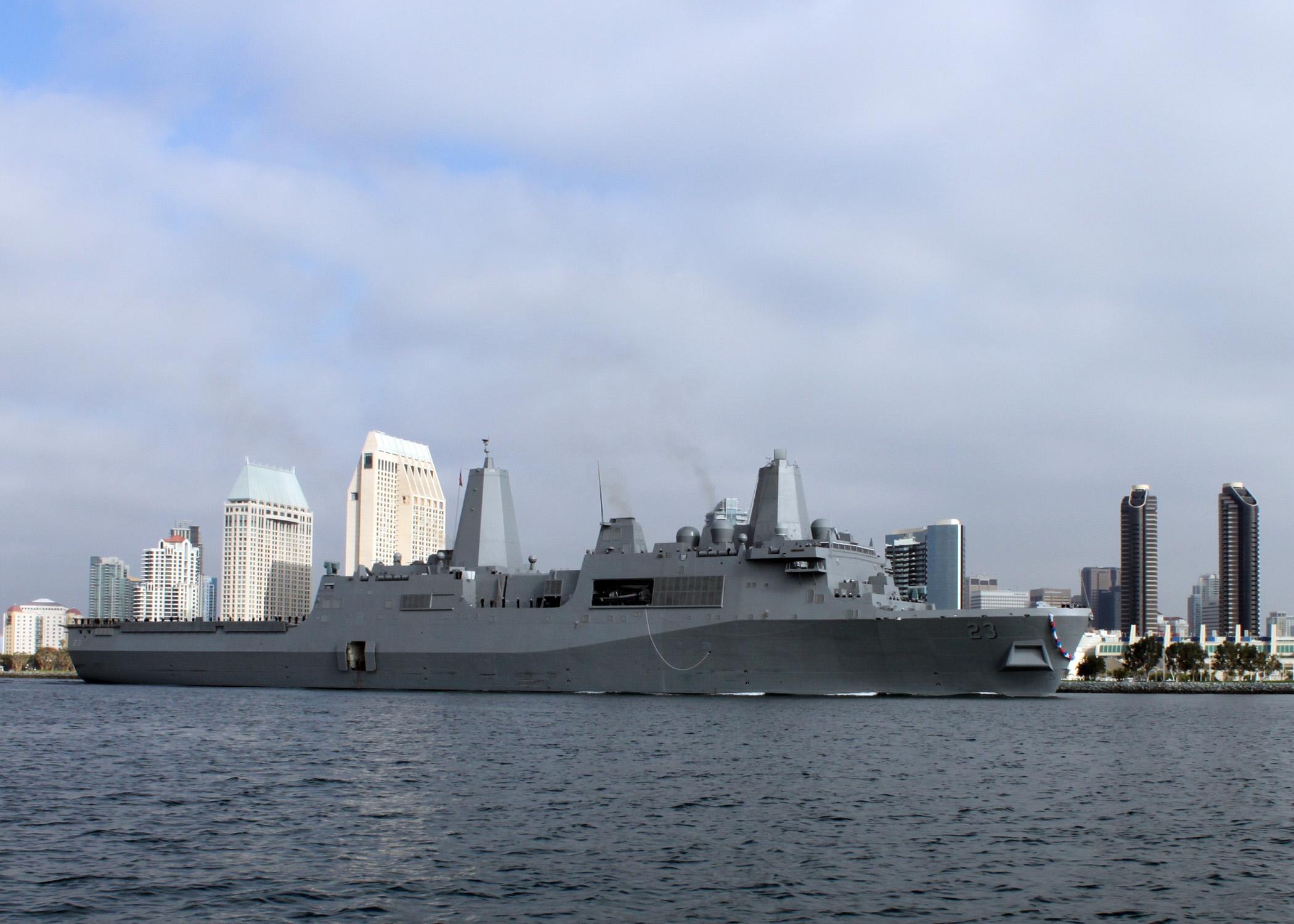 PCU ANCHORAGE LPD-23 Einlaufen San Diego am 21.11.2012Bild: U.S. Navy