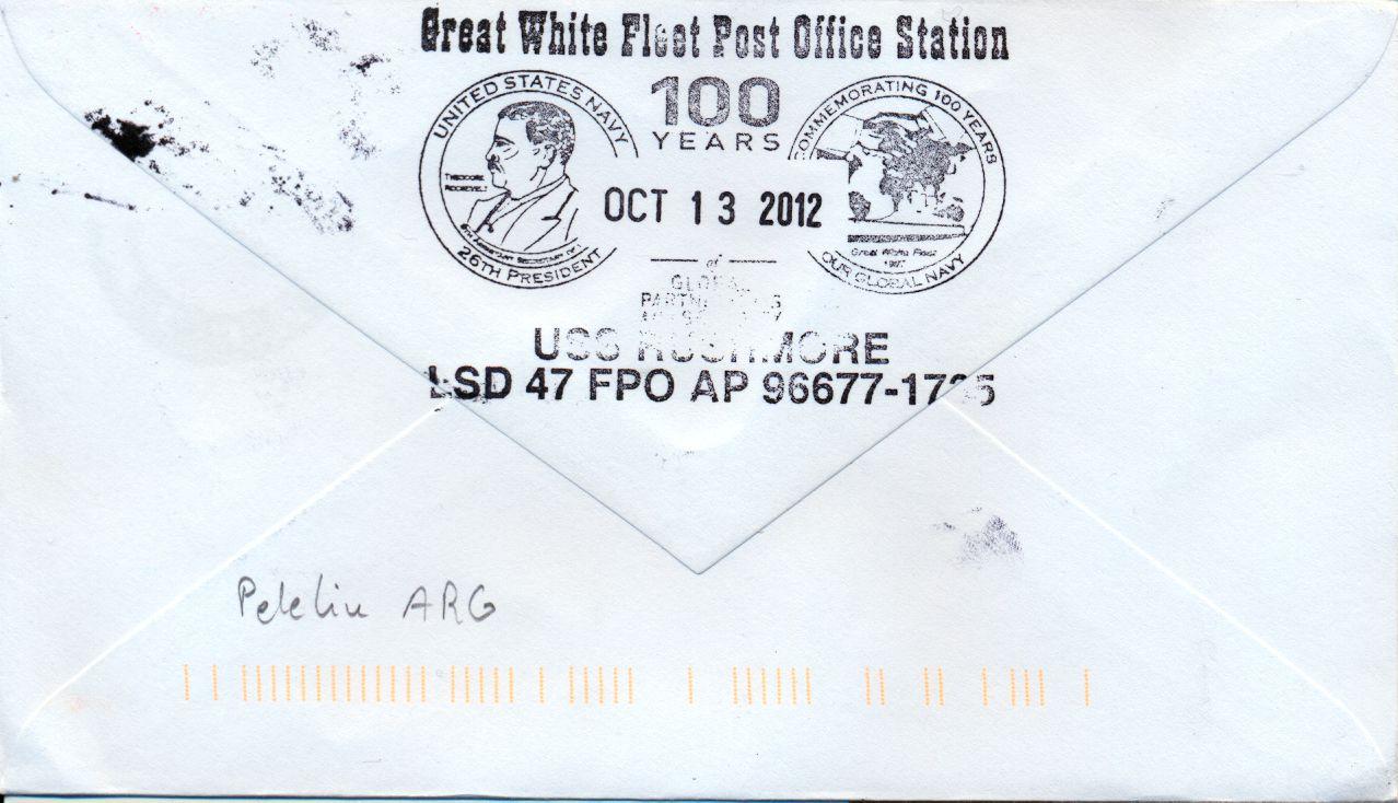 Beleg USS RUSHMORE LSD-47 Rückseitevon Karl Friedrich Weyland
