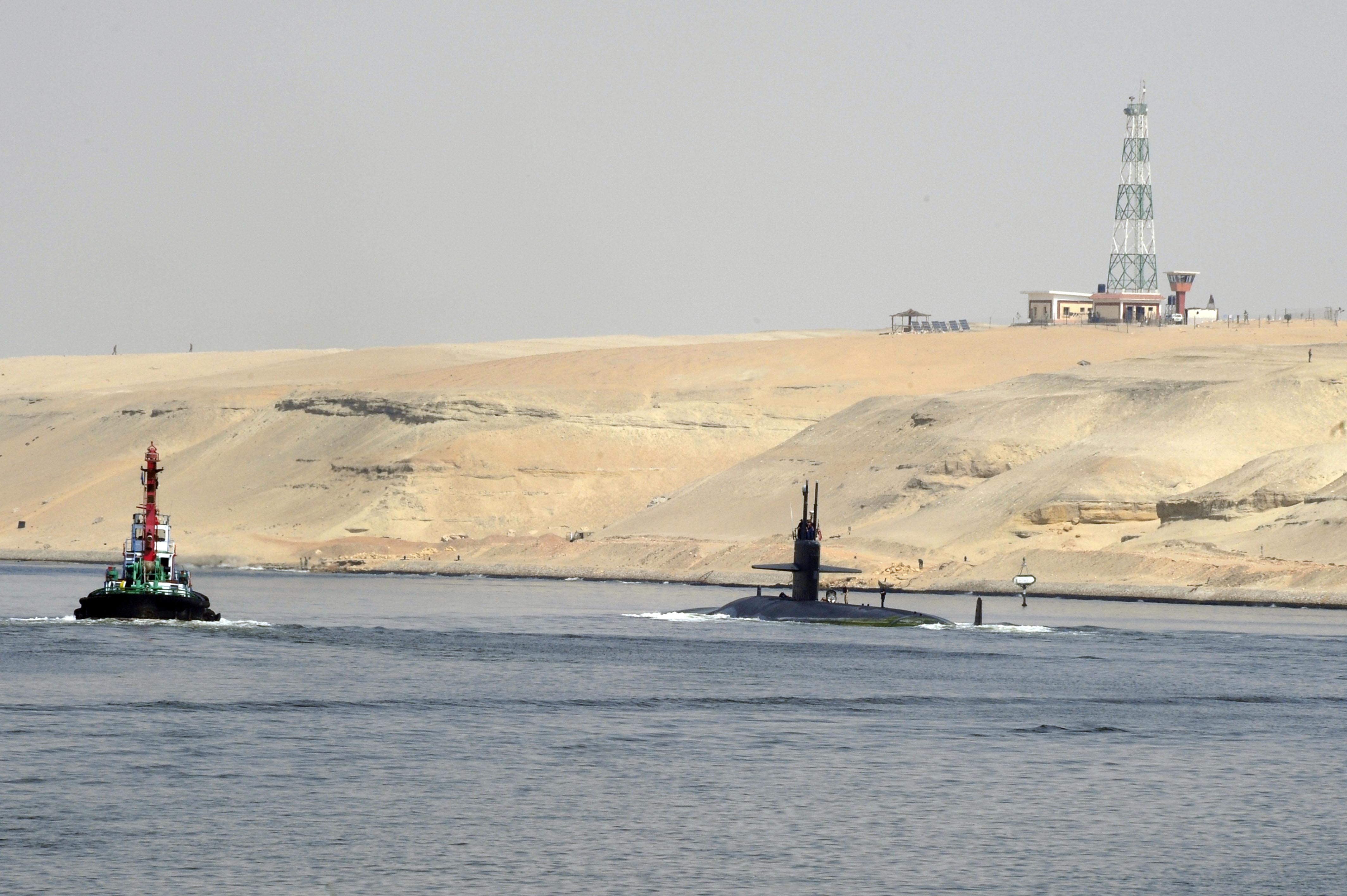 USS NORFOLK SSN-714 am 04.10.2012 im Suez-KanalBild: U.S. Navy