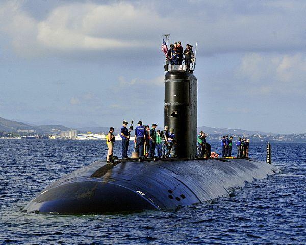 USS ALEXANDRIA SSN-757 am 03.11.2012 Souda Bucht, KretaBild: U.S. Navy