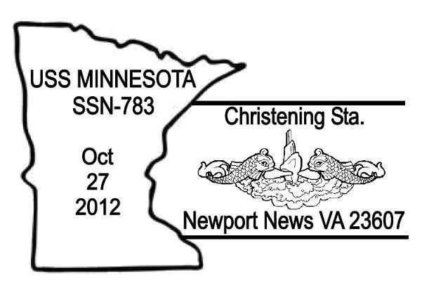 Sonderpoststempel USS MINNESOTA SSN-783 ChristeningBild: Universal Ship Cancellation Society (USCS)
