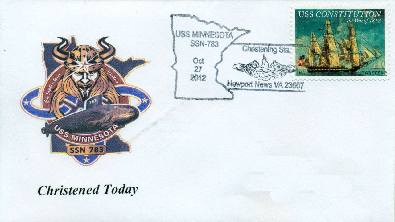 Beleg USS MINNESOTA SSN-783 Christening von Karl Friedirch Weyland