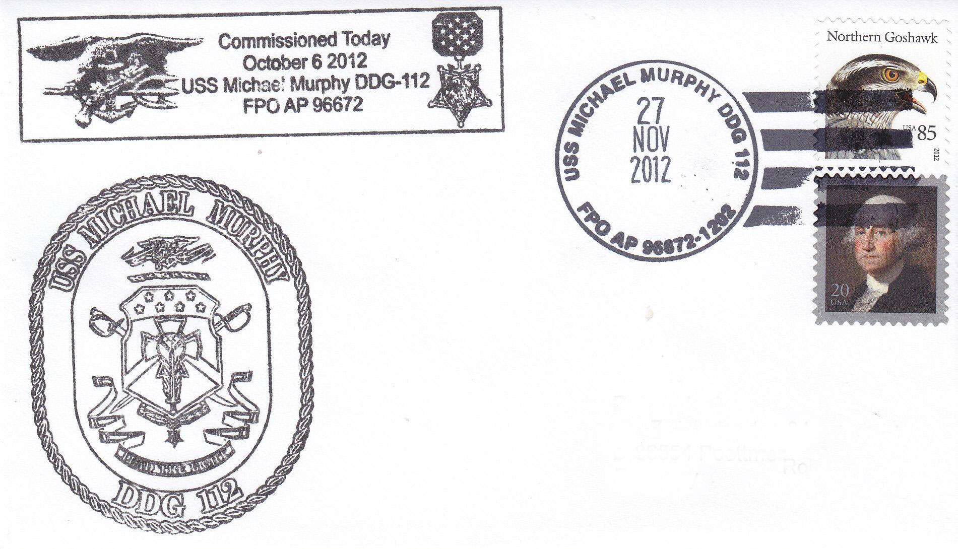 Beleg USS MICHAEL MURPHY DDG-112 Commissioning?