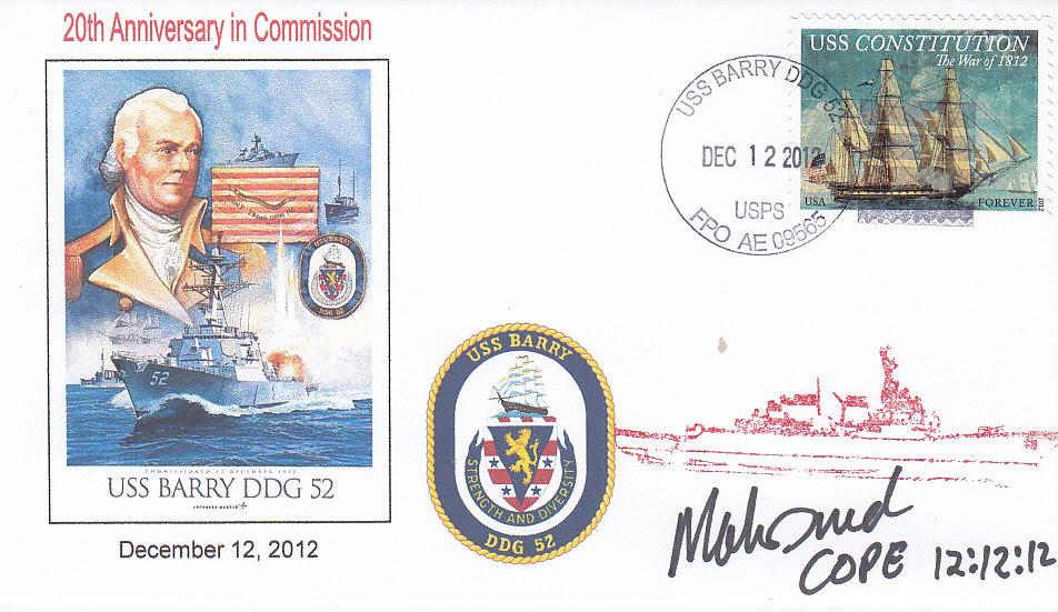 Beleg USS BARRY DDG-52 20 Jahre im Dienst