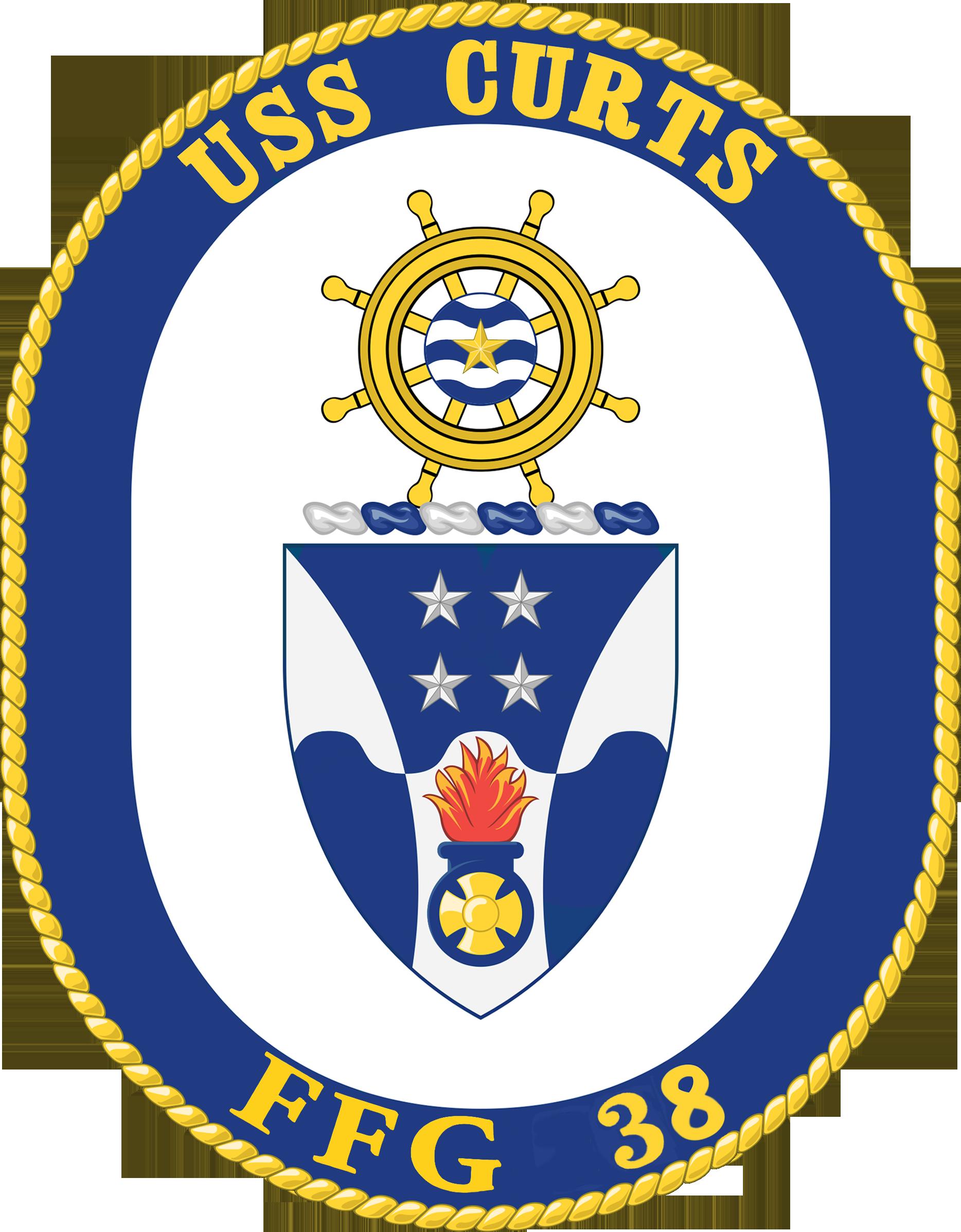 USS CURTS FFG-38 SealGrafik: U.S. Navy