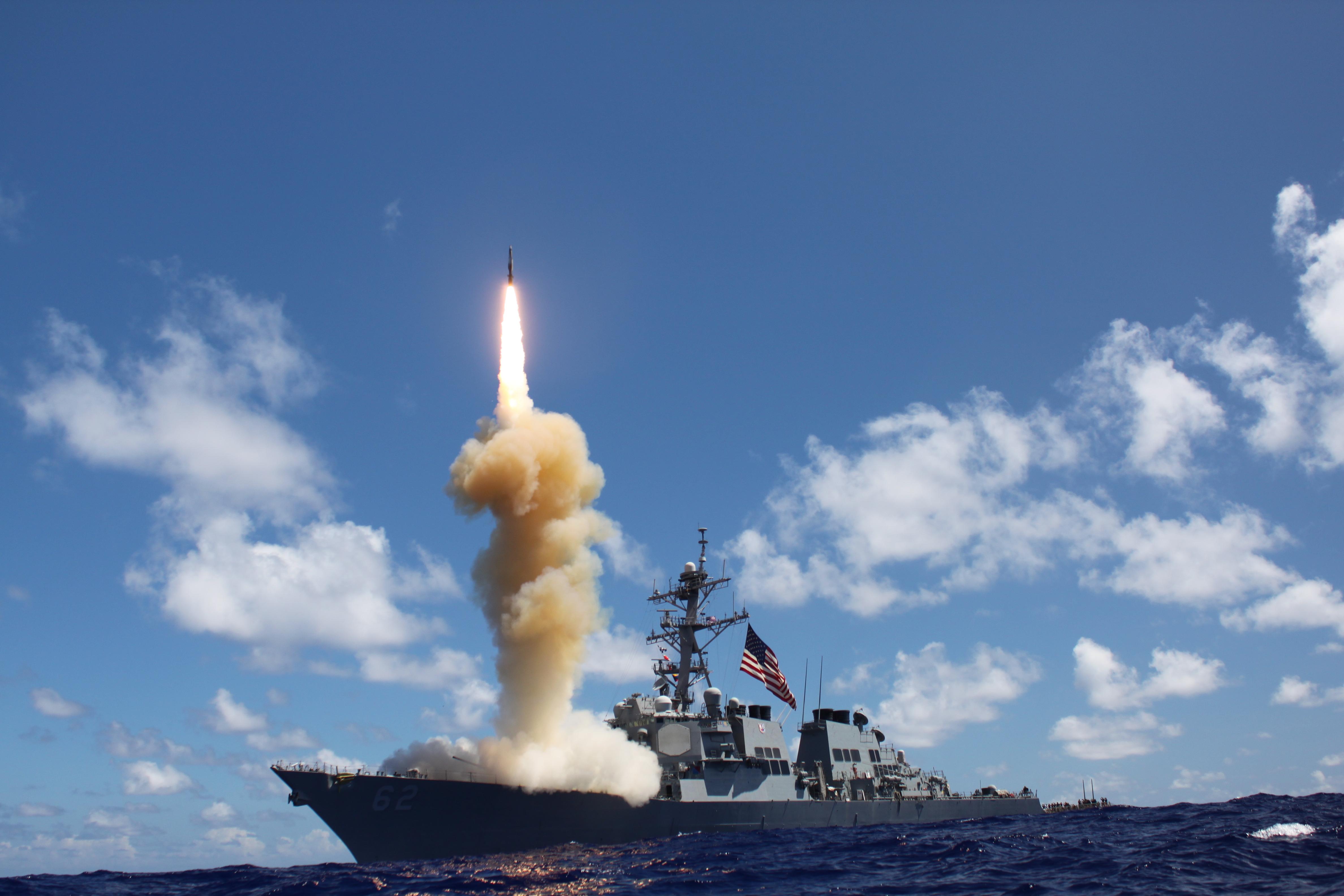 USS FITZGERALD DDG-62 beim RaketenstartBild: U.S. Navy