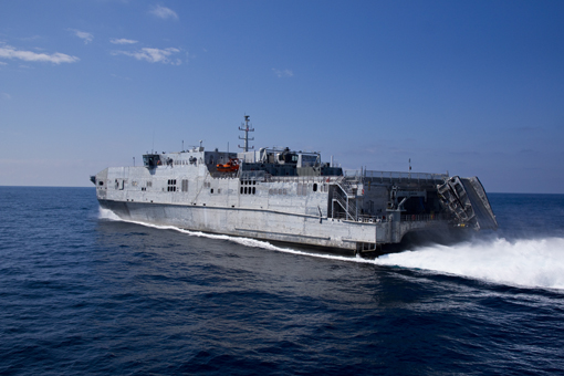 USNS SPEARHEAD JHSV-1 bei der See-ErprobungBild: Austal USA