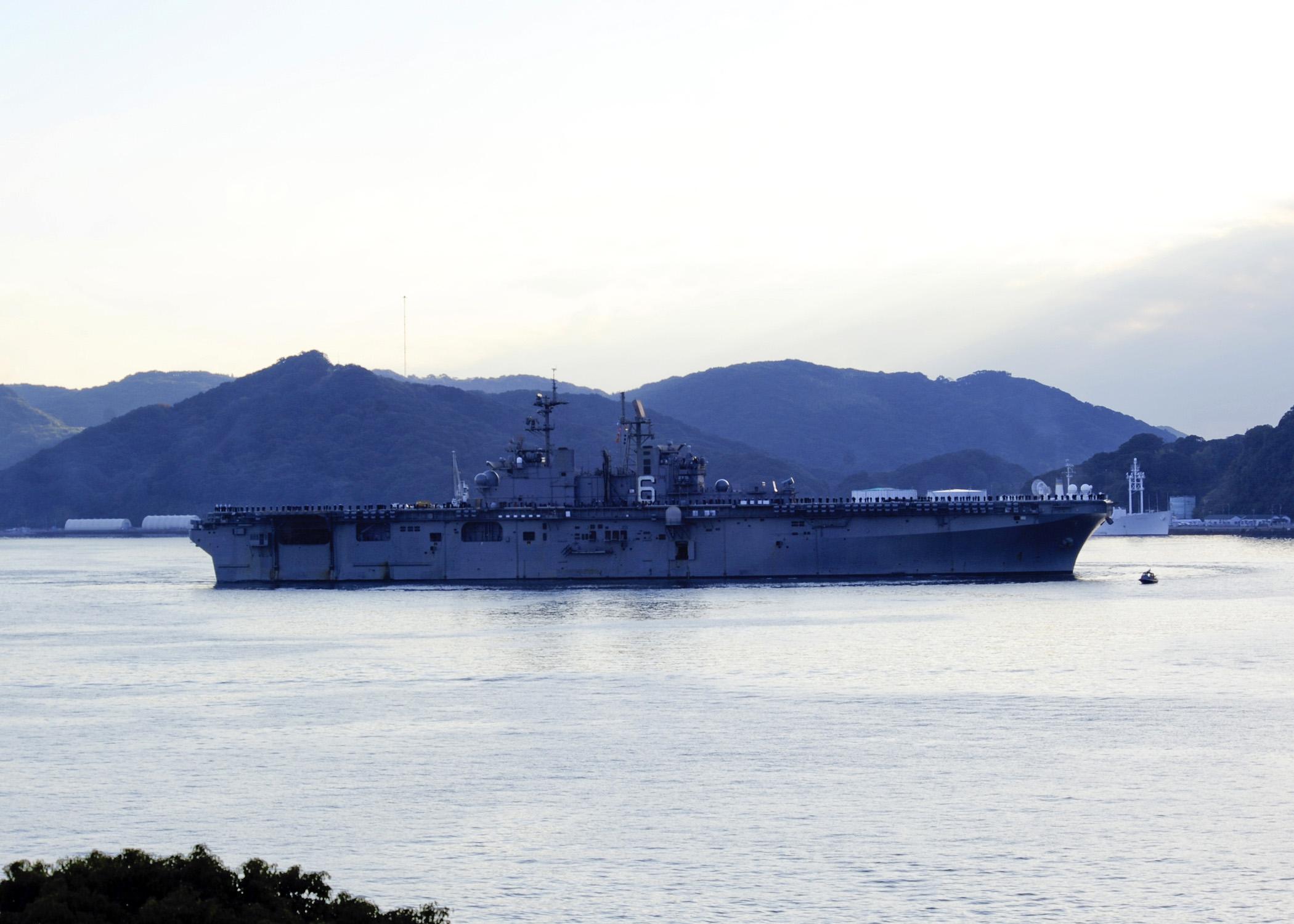USS BONHOMME RICHARD LHD-6 Sasebo 03.12.2012Bild: U.S. Navy