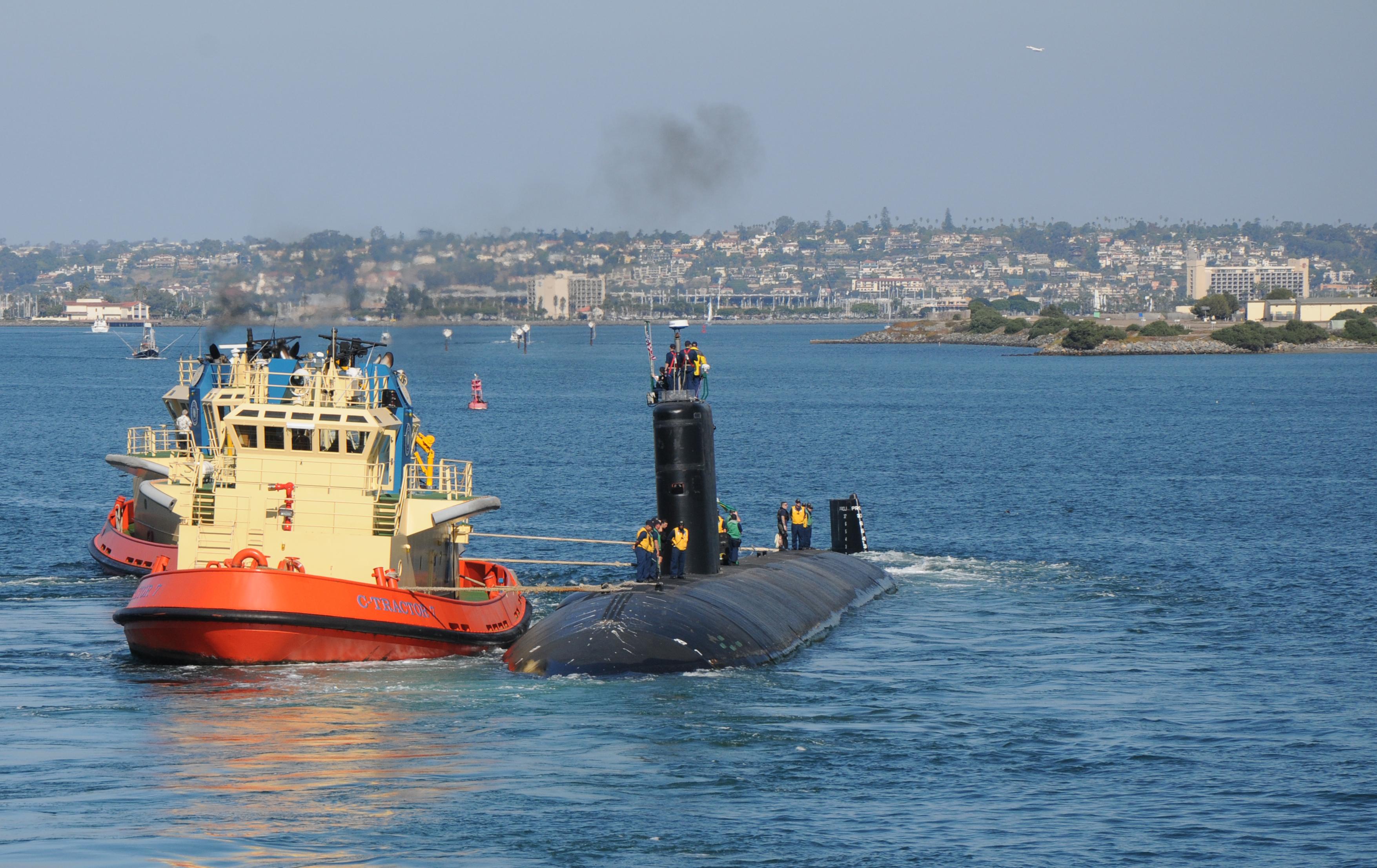 USS TOPEKA SSN-754 Auslaufen San Diego 02.11.2012Bild: U.S. Navy