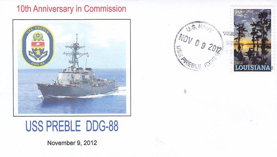 Beleg USS PREBLE DDG-88 10 Jahre im Dienst