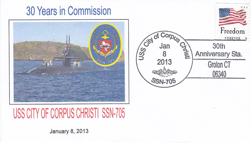Beleg USS CITY OF CORPUS CHRIST SSN-705 30 Jahre