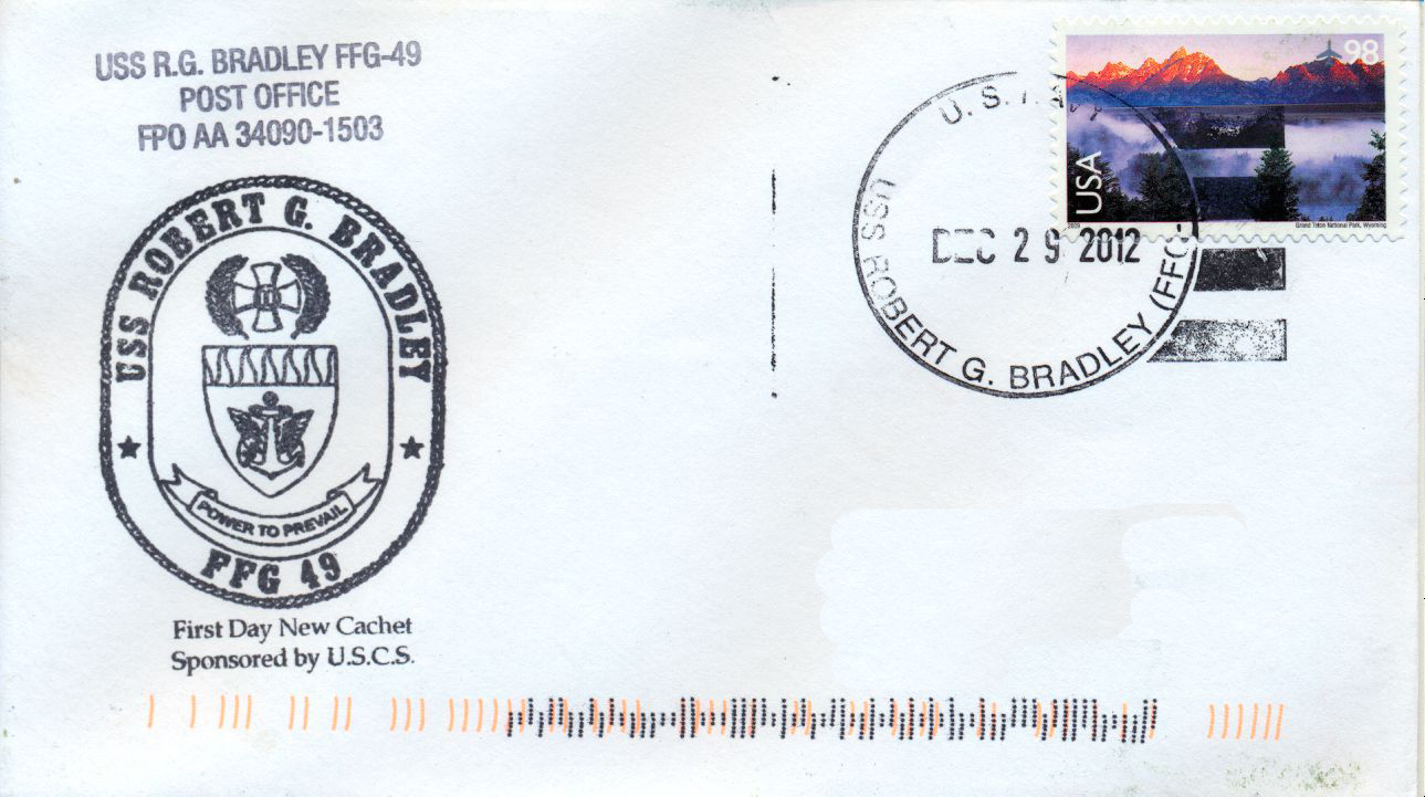 Beleg USS ROBERT G. BRADLEY FFG-49Beleg: Karl Friedrich Weyland